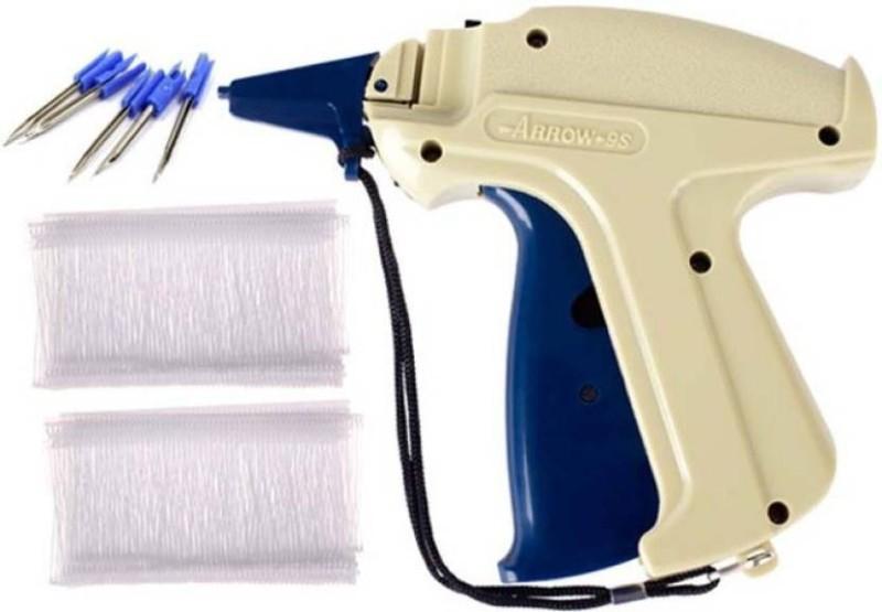 Sadar Shop 9S Arrow Tag Gun, 35mm 1000 WHITE Tag Pin Barbs,1 Needle Cloth Price Label Attacher Taging Gun