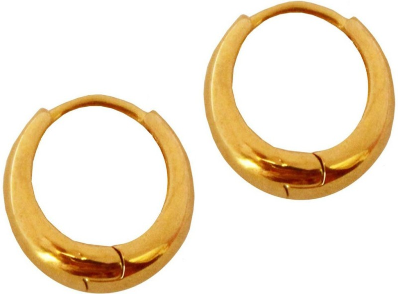 Shining Angel Trendy Unisex Pierced Gold Earrings for Girls/Boys/Men/Women Stainless Steel Chandbali Earring
