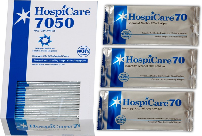 HOSPICARE 70% IPA WIPES-7050(50 Units)
