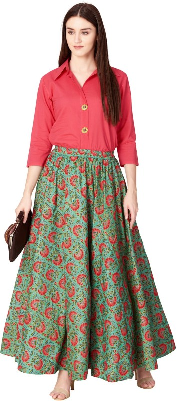 Khushal K Women Top and Skirt Set