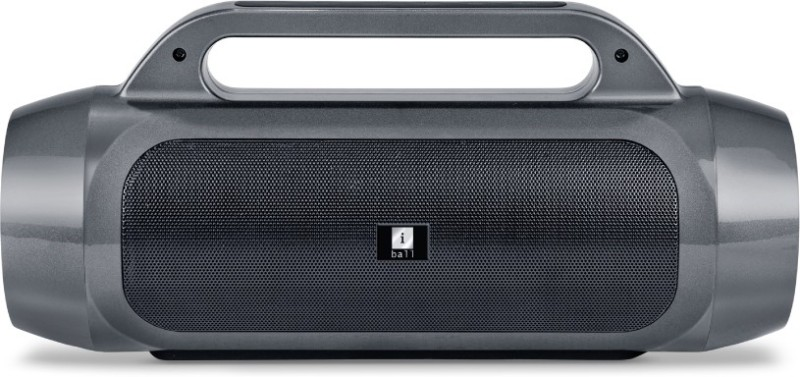 iball SoundPunch 10 W Bluetooth Home Audio Speaker(Starry Grey and Piano Black, Stereo Channel)