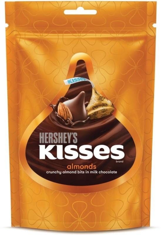 Hershey's Kisses Crunchy Almond Bits in Milk Chocolate Truffles(33.6 g)