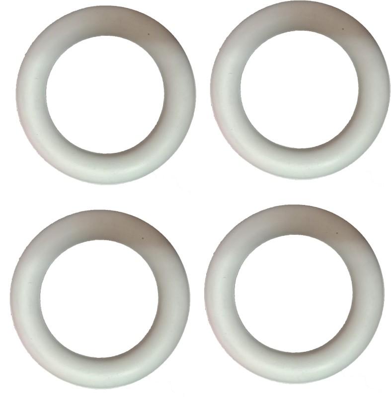 Arnav Frisbee Ring Traditional Garden Throwing White Outdoor Pack of 4 Pcs Rubber Tennikoit Ring(Pack of 4)