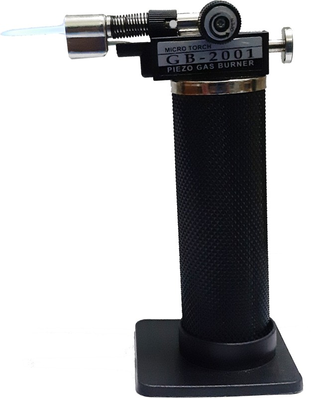 TOOLBUX Blow Torch Burner Welding Soldering Iron Lighter Flame Gun Gas Butane TBBL Pocket Lighter(BLACK)