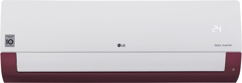 LG 1 Ton 5 Star Split Dual Inverter AC - White, Maroon(KS-Q12WNZD, Copper Condenser)