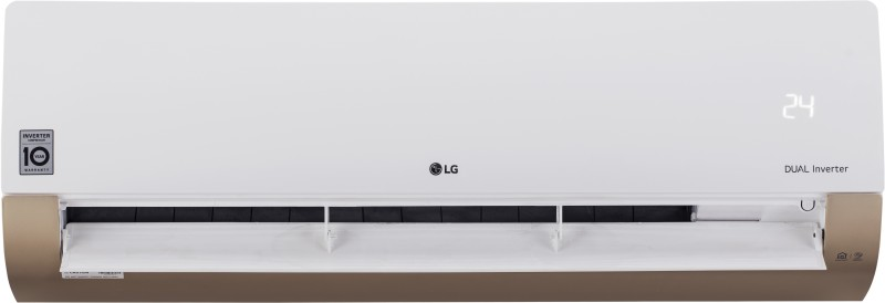 LG 1 Ton 3 Star Split Dual Inverter AC with Wi-fi Connect - White, Gold(KS-Q12AWXD, Copper Condenser)