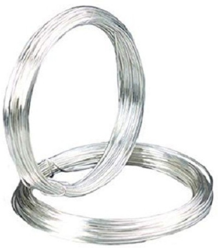 Sparkle Silver Plated Brass Craft Wire for Jewellery Making & Crafts Work, 10 Mtrs, 24 Gauge Thick (0.55 mm) Silver Beading Wire(Diameter :  0.55 mm)