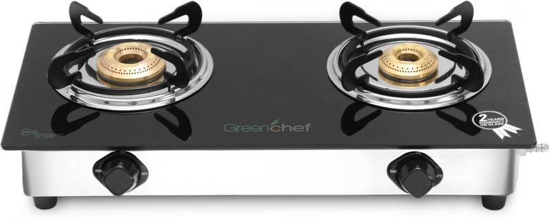 Greenchef Crystal Stainless Steel Manual Gas Stove(2 Burners)