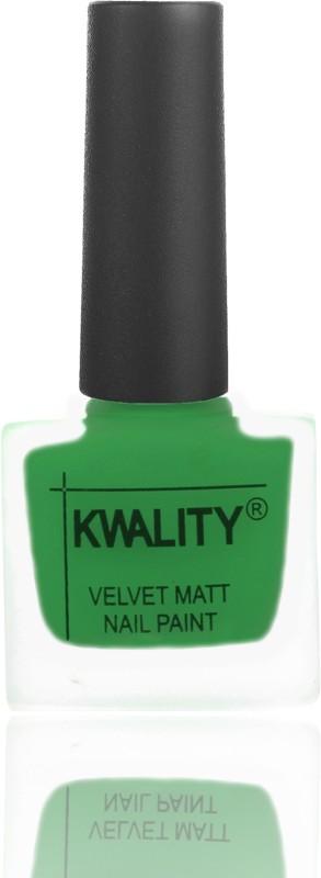 Kwality Premium Velvet Dull Matte Nail Polish Dark Green