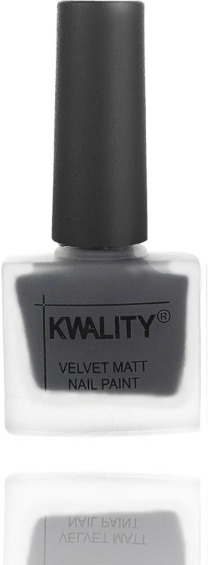 Kwality Professional Velvet Matte Nail Polish Dark Grey