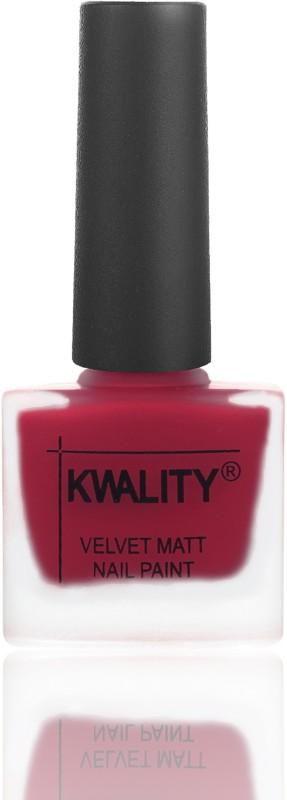 Kwality Premium Velvet Dull Matte Nail Polish Dark Passion Pink