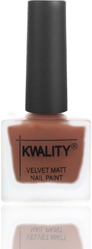 Kwality Velvet Dull Matte Posh Shades Party Girl Range Nail Polish Brown