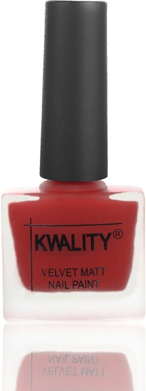 Kwality Professional Velvet Matte Nail Polish Red