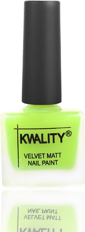 Kwality Premium Velvet Dull Matte Nail Polish / Posh Shades Party Girl Range Nail Polish Parrot Green