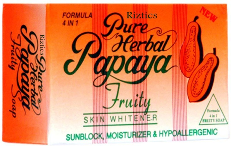 RIZTICS PURE HERBAL Papaya Fruity Soap 4 In 1 Skin Whitening Soap(135 g)
