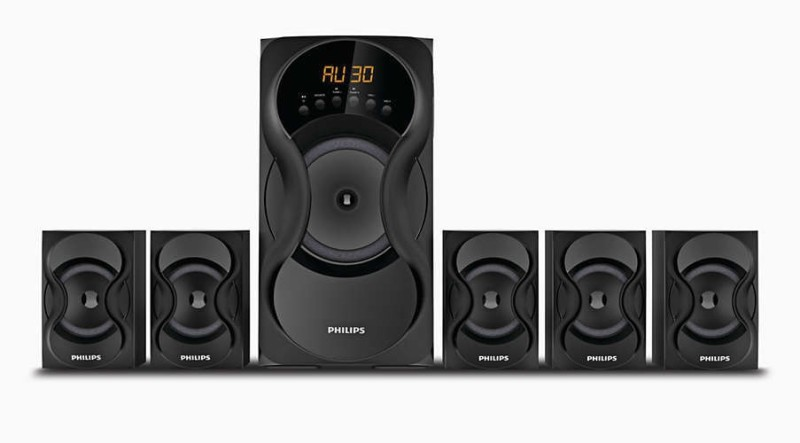 Philips SPA5162/94 60 W Bluetooth Home Audio Speaker(Black, 5.1 Channel)
