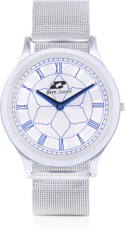 Bern Suisse Silver Mesh Strap Extra Slim Minimalist Design Latest 2019 Wrist Watch for Men - Classic Silver Analog Watch - For Men