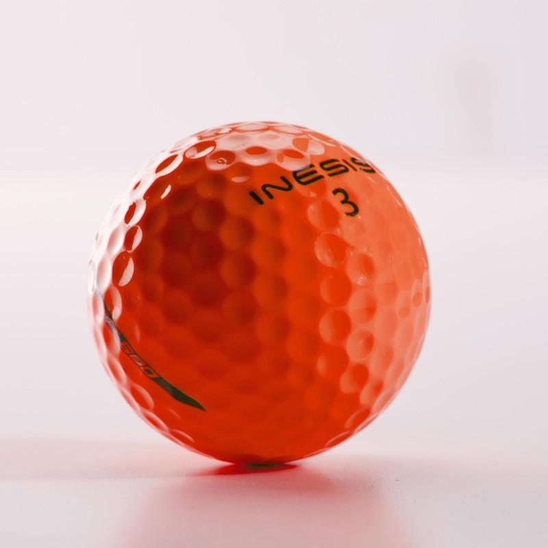 DECATHLON GOLF BALL 500 SOFT X12 ORANGE PACK OF 12 Golf Ball(Pack of 12, Orange)
