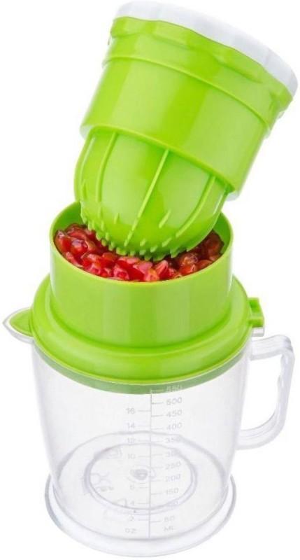 Brandwire 2 in 1 Orange - Grape - Watermelon Handy Plastic Hand Juicer(Green Pack of 1)