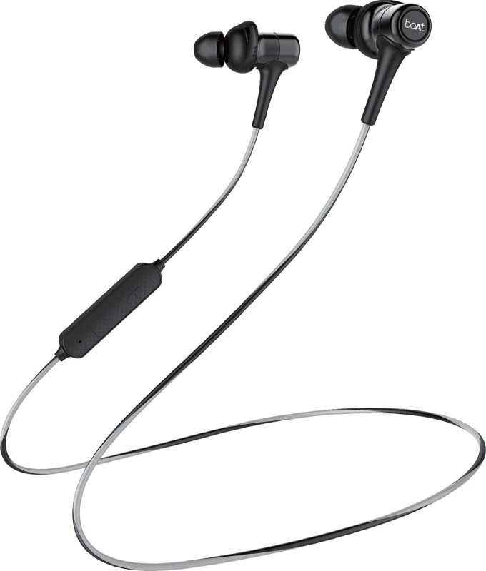boAt Rockerz 285V2 Bluetooth Headset with Mic(Active Black, In the Ear)