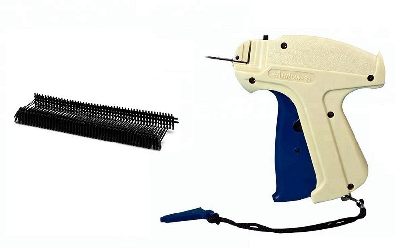 Sadar Shop 9S Arrow Tag Gun, 65mm 1000 Black Tag Pin Barbs,1 Needle Cloth Price Label Attacher Taging Gun