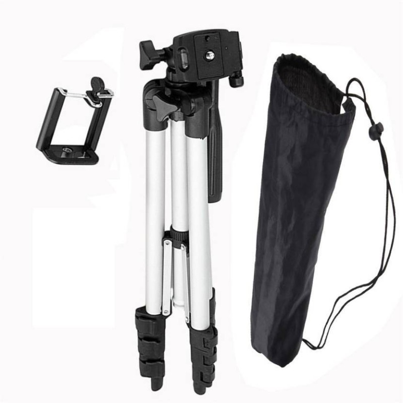 WDS BEST BUY NEW METAL BODY 3110 TRIPOD WITH ANTI SLIP LEG SECTION SUPPORT PORTABLE TRIPOD FOR DSLR,CAMERA,TELESCOPE AND ALL SMARTPHONES Tripod(Silver & Black, Supports Up to 1500) Tripod(Silver, Black, Supports Up to 1500 g)