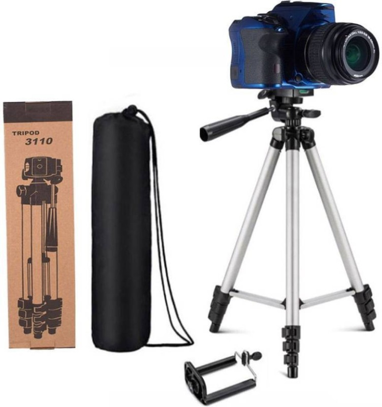 WDS Professional Flexible Aluminum Tripod Tripod-3110 Portable Adjustable Foldable Aluminum Lightweight Mobile Phone Camera DSLR/SLR Digital Camera Stand With Three-Dimensional Head & Quick Release Plate For professional photographer or videographer Tripo