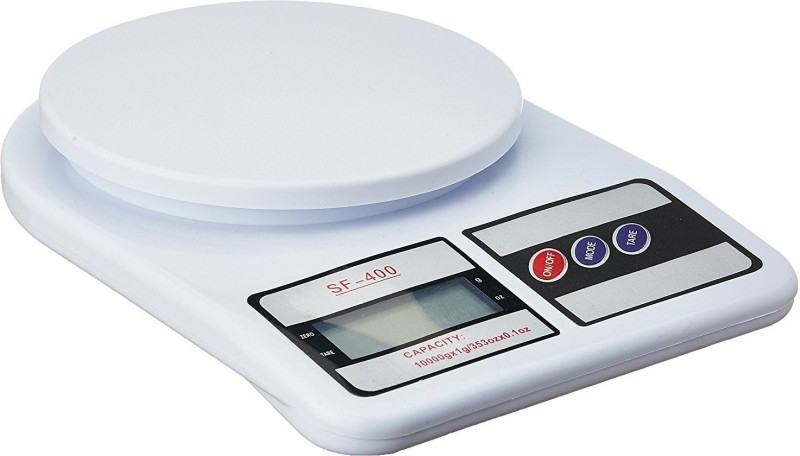 Ergode Electronic Kitchen Digital Weighing Scale, Multipurpose 10 Kg Weighing Scale(White)