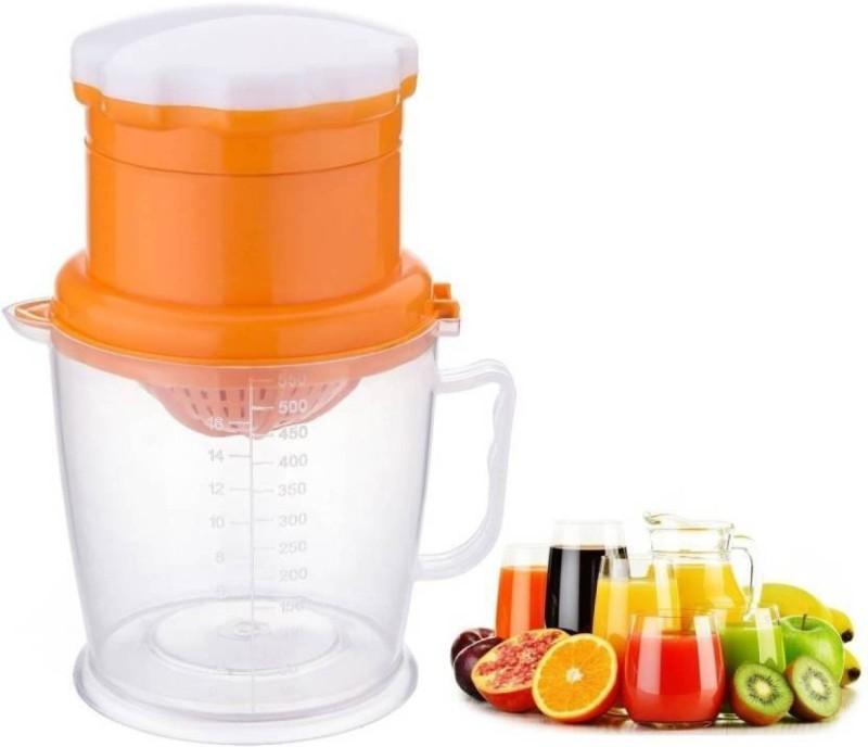 Brandwire Smart Juicer For Quick Fresh Juice (Orange,Grapes,Anaar) Plastic Hand Juicer(Orange Pack of 1)