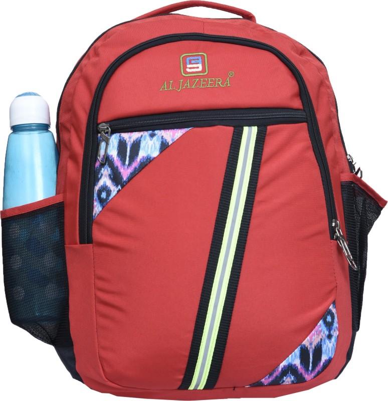 Al Jazeera Unisex Printed Laptop Backpack 20 L Laptop Backpack(Red, Black, White)