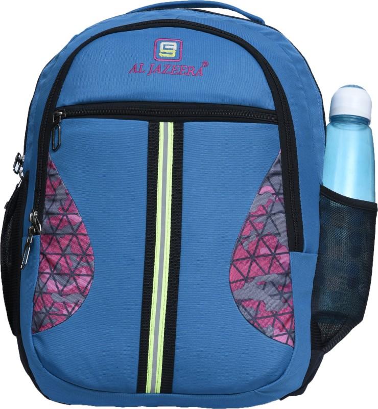 Al Jazeera Unisex Printed Laptop Backpack 20 L Laptop Backpack(Blue, Pink)