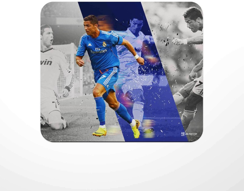 Jbn Creative Skill - Cristiano Ronaldo  Premium Gaming Mousepad   Anti-Slip Rubber Base   Designer Mouse Pad   Anti Skid Technology Mouse Pad for Laptops and Computers   Pack of 1 Mousepad(Multicolor)