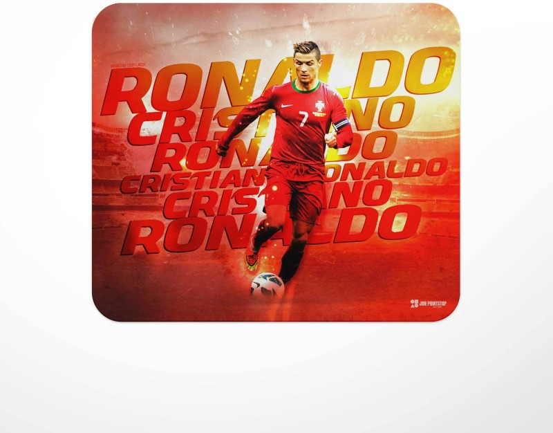 Jbn Cristiano Ronaldo - Portugal Graphical   Premium Gaming Mousepad   Anti-Slip Rubber Base   Designer Mouse Pad   Anti Skid Technology Mouse Pad for Laptops and Computers   Pack of 1 Mousepad(Multicolor)