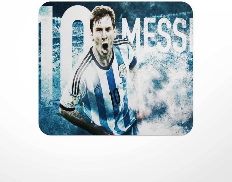 Jbn Messi Argentina - Graphical   Premium Gaming Mousepad   Anti-Slip Rubber Base   Designer Mouse Pad   Anti Skid Technology Mouse Pad for Laptops and Computers   Pack of 1 Mousepad(Multicolor)