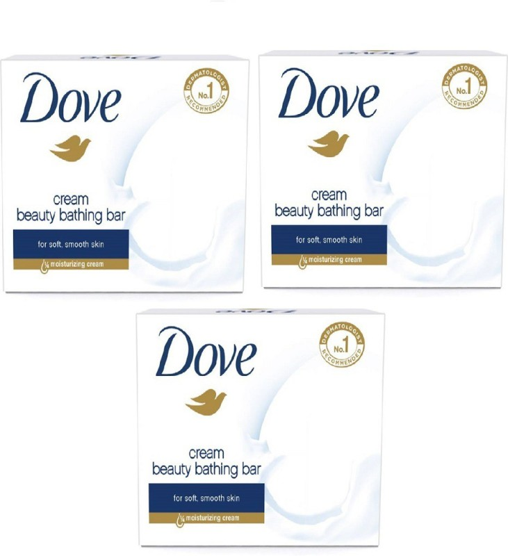 Dove Cream Beauty Bathing soap pack of 3(75 g, Pack of 3)