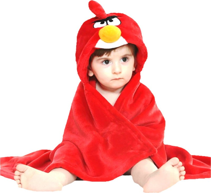 BRANDONN Red Free Size Bath Robe(Bath Robe, For: Baby Boys & Baby Girls, Red)