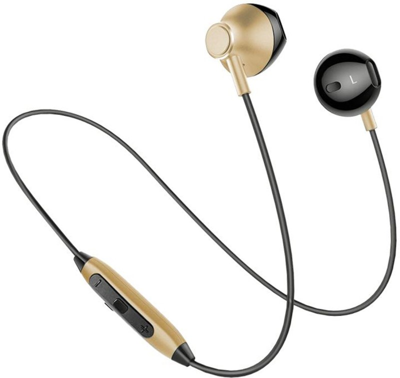 PTron InTunes Pro Magnetic Wireless Bluetooth Headset with Mic(Gold, In the Ear)
