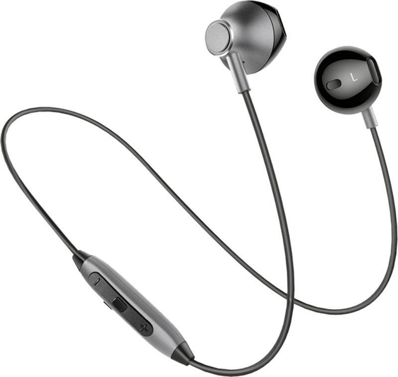 PTron InTunes Pro Magnetic Wireless Bluetooth Headset with Mic(Grey, In the Ear)