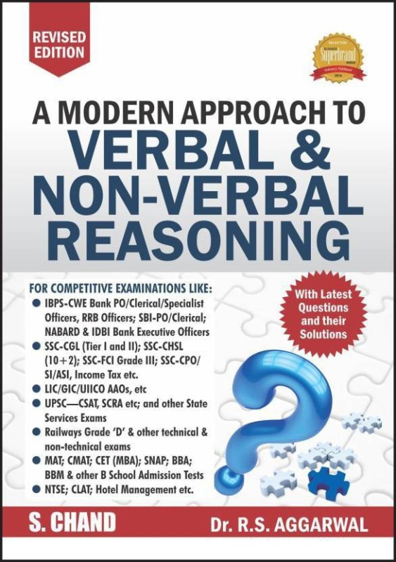 A Modern Approach to Verbal and Non-Verbal Reasoning Latest Edition(English, Paperback, Aggarwal R. S.)