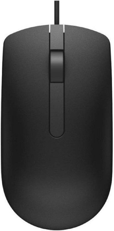 Dell MS 116 Wired Optical Mouse Wired Optical Gaming Mouse(USB 2.0, Black)