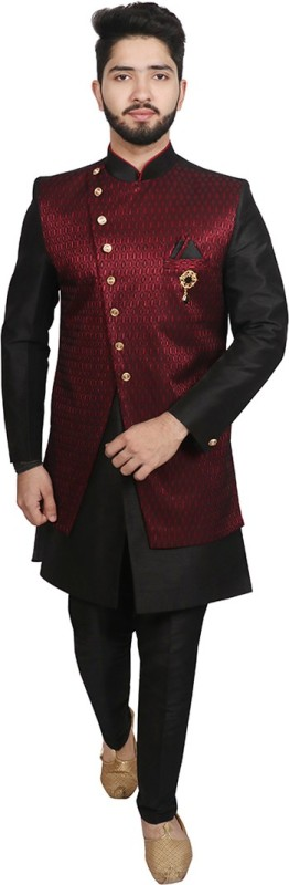 SG RAJASAHAB Self Design Sherwani