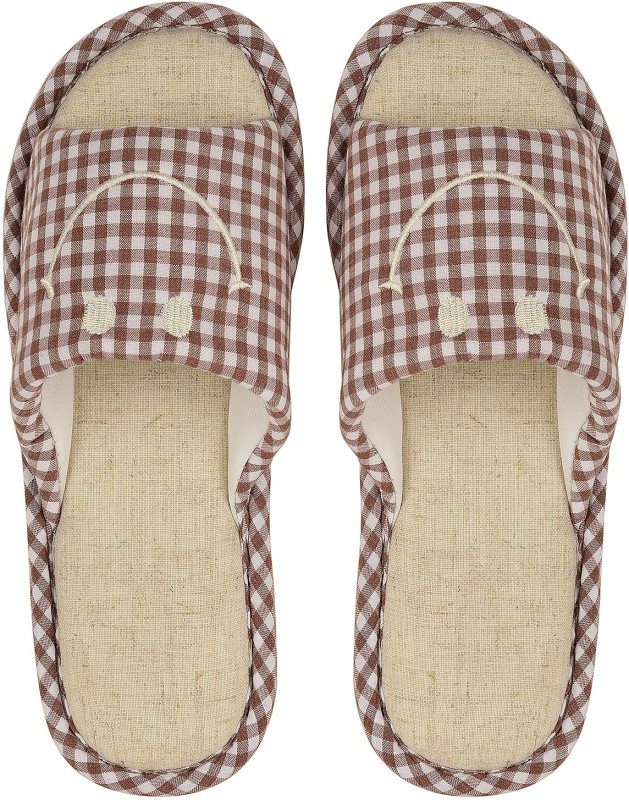 DRUNKEN Slipper For Women's Flip Flops House Slides Home Carpet Rosy Brown Sandals Slides