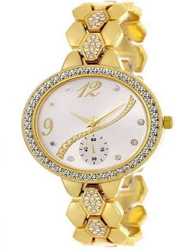 Spexra Gold Tone For Party -Wedding Special Girls Stylish Analog Watch  - For Women
