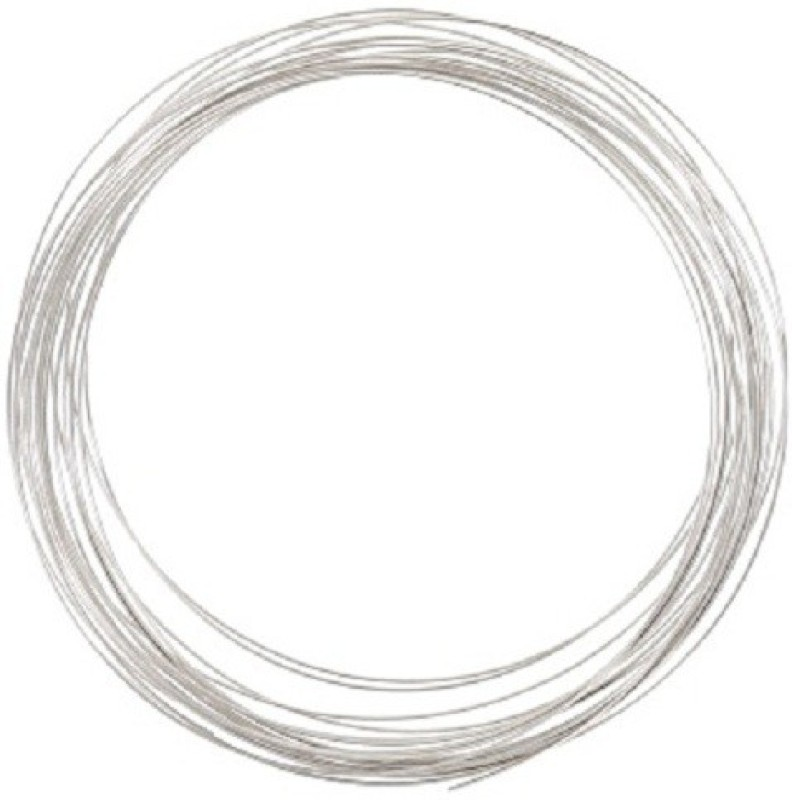 Sparkle Silver Plated Brass Craft Wire for Jewellery Making & Crafts Work, 15 Mtrs, 24 Gauge Thick (0.55 mm) Silver Beading Wire(Diameter :  2 mm)