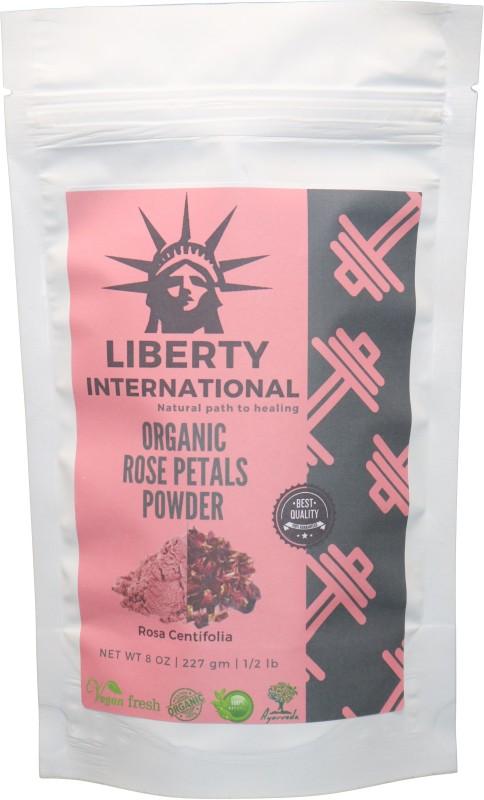 LIBERTY INTERNATIONAL 100% Organic Rose Petals Powder (Rosa Centifolia) All Natural For Facial Mask Formulation, Skin and Hair Care NT13(227 g)