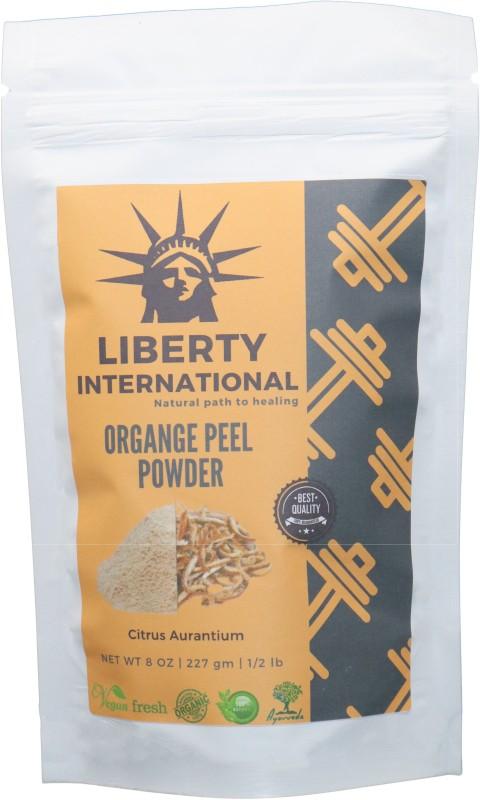 LIBERTY INTERNATIONAL 100% Organic Orange Peel Powder (Citrus Aurantium) Skin Whitening , Glowing , Skin Caring and Hair Conditioning NT13(227 g)
