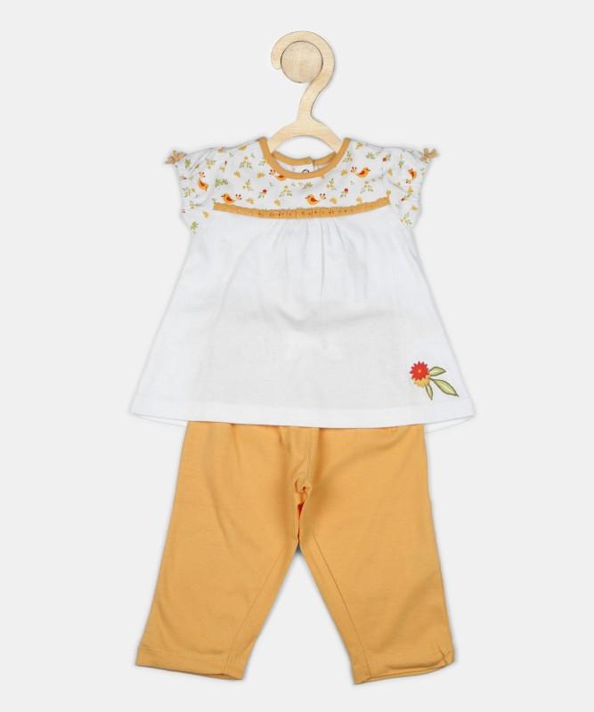 Fabindia Baby Boys & Baby Girls Casual Top Pant(Multicolor)