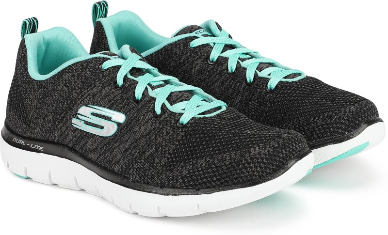 Skechers FLEX APPEAL2.0-HIGH ENERG Walking Shoes For Women(Black)