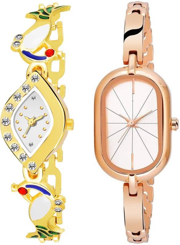 Zebra Combo Pack 2 New Attractive Designer Edition Stylish Analog Bracelet Bangle Watch For Girls & Women ZB02-517 Analog Watch  - For Girls