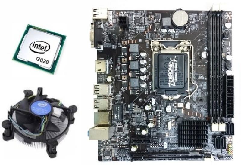 Zebronics PENTIUM G620 2G Combo Motherboard(DARK BROWN)